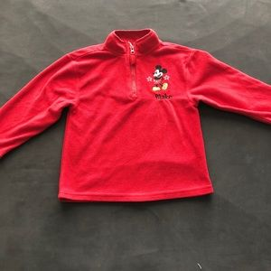 DISNEY MICKEY MOUSE RED PULLOVER